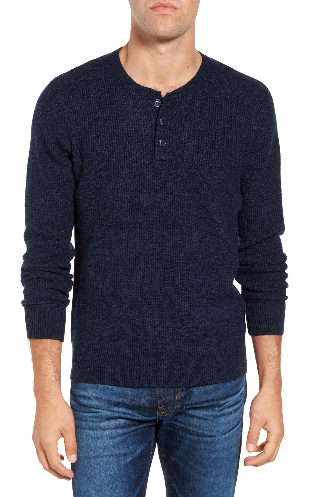 Thermal Henley,                         Main,                         color, Navy
