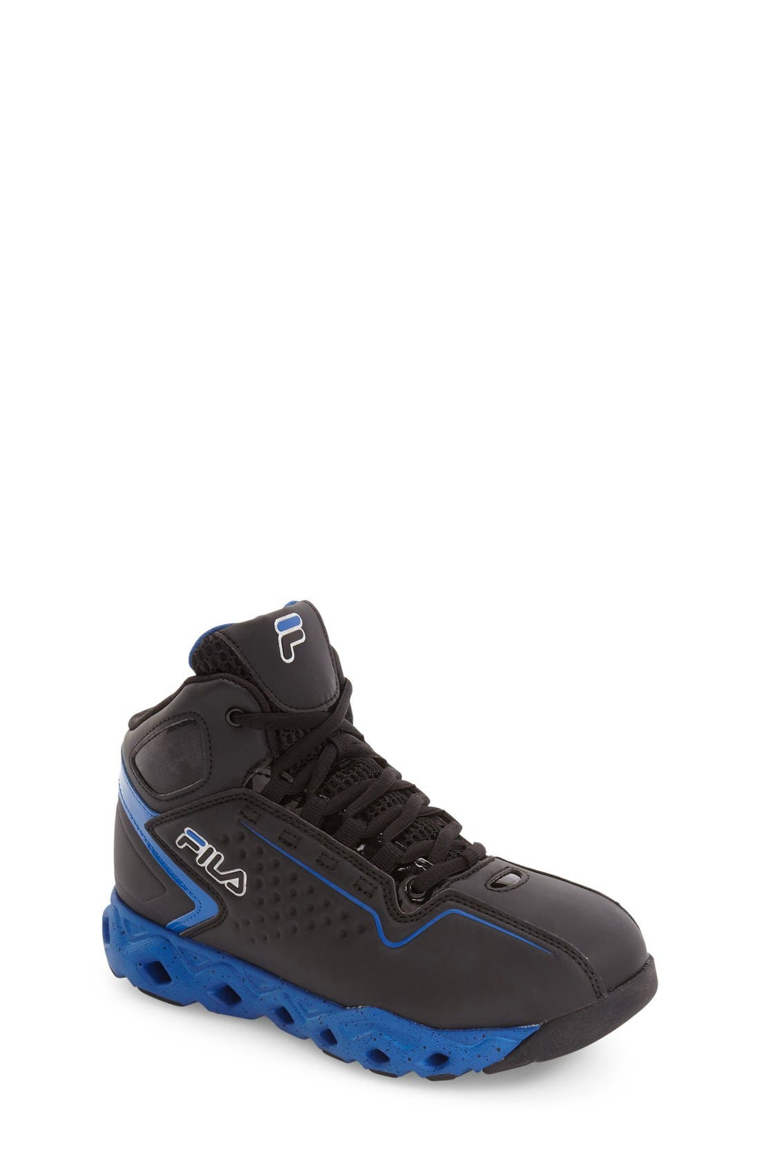 Big Bang High Top Sneaker,                         Main,                         color, Black/ Prince Blue