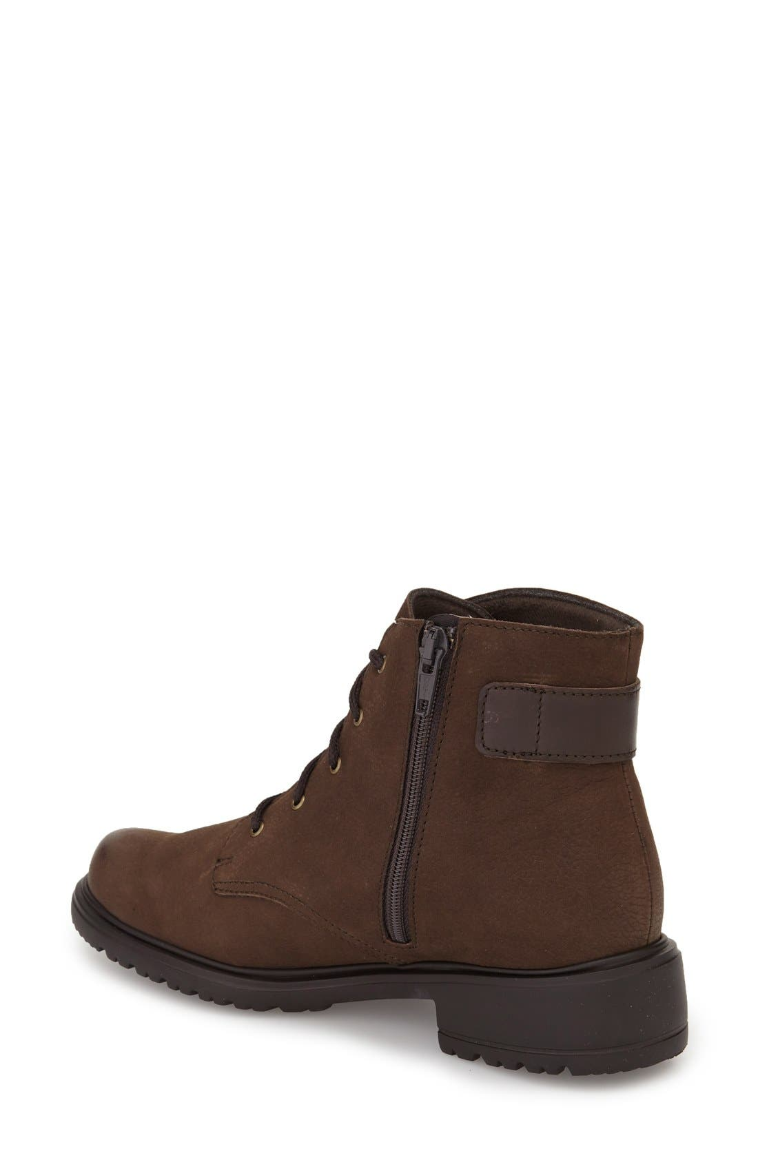 Bradley Water Resistant Boot,                             Alternate thumbnail 2, color,                             Brown Tumbled Nubuck Leather