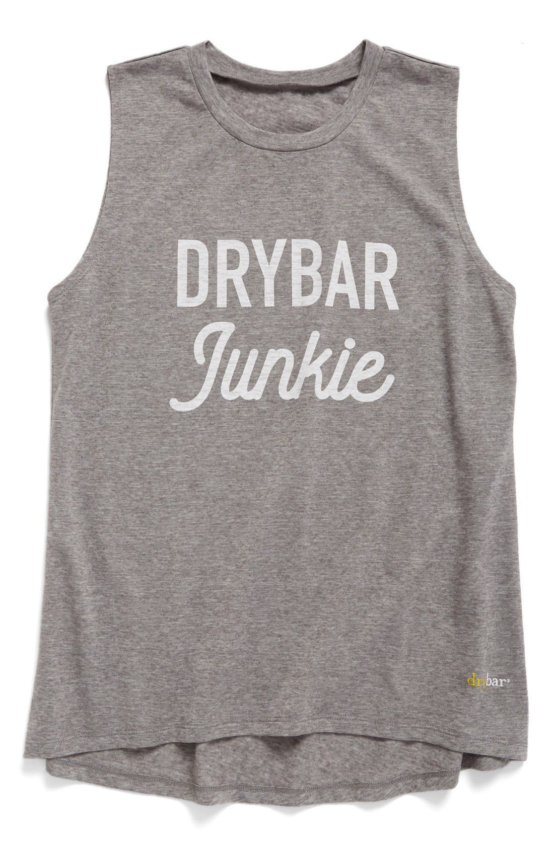 Capsule Drybar Junkie Tank,                         Main,                         color, Heather Gray