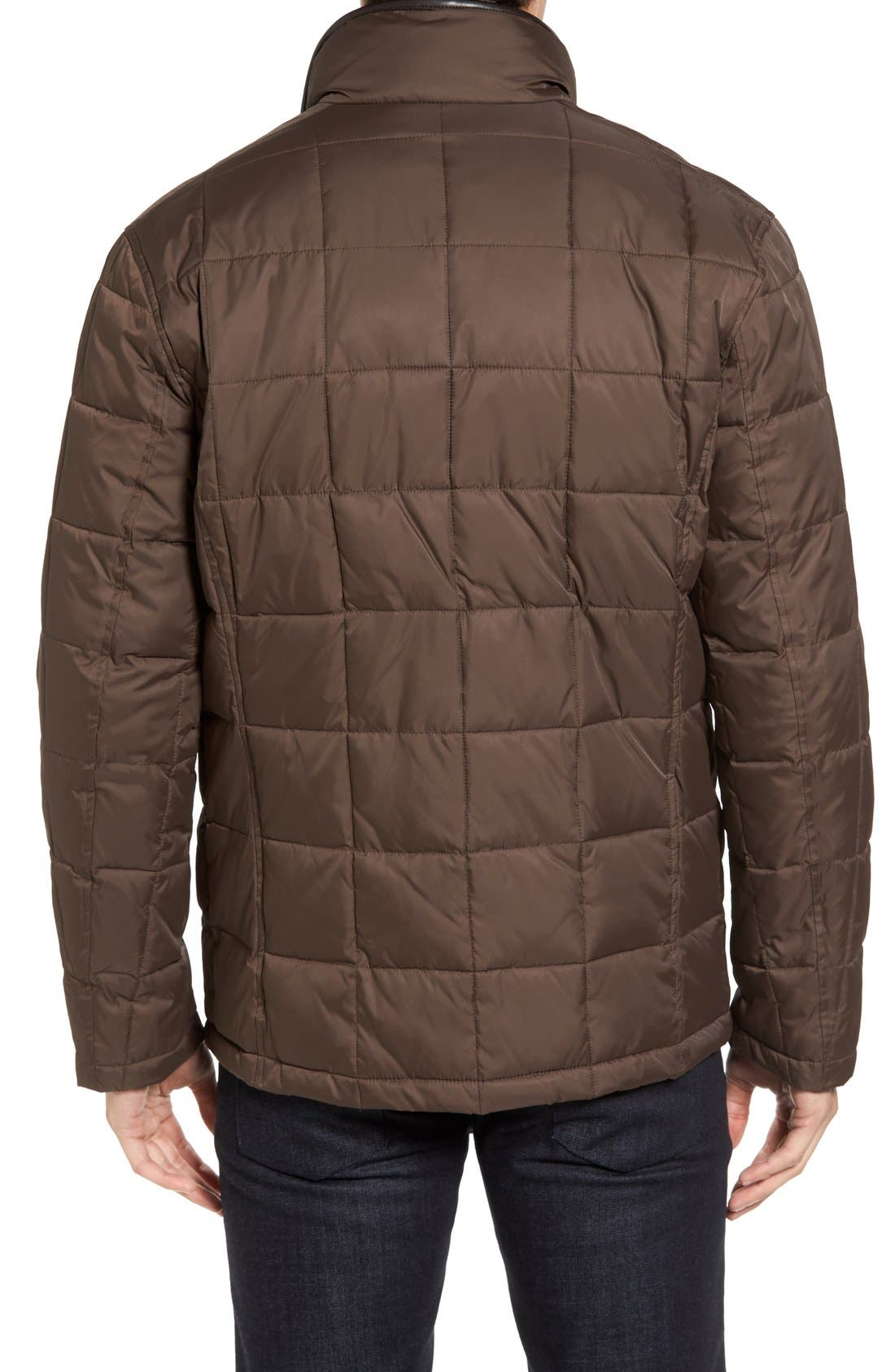 Box Quilted Jacket,                             Alternate thumbnail 2, color,                             Wren