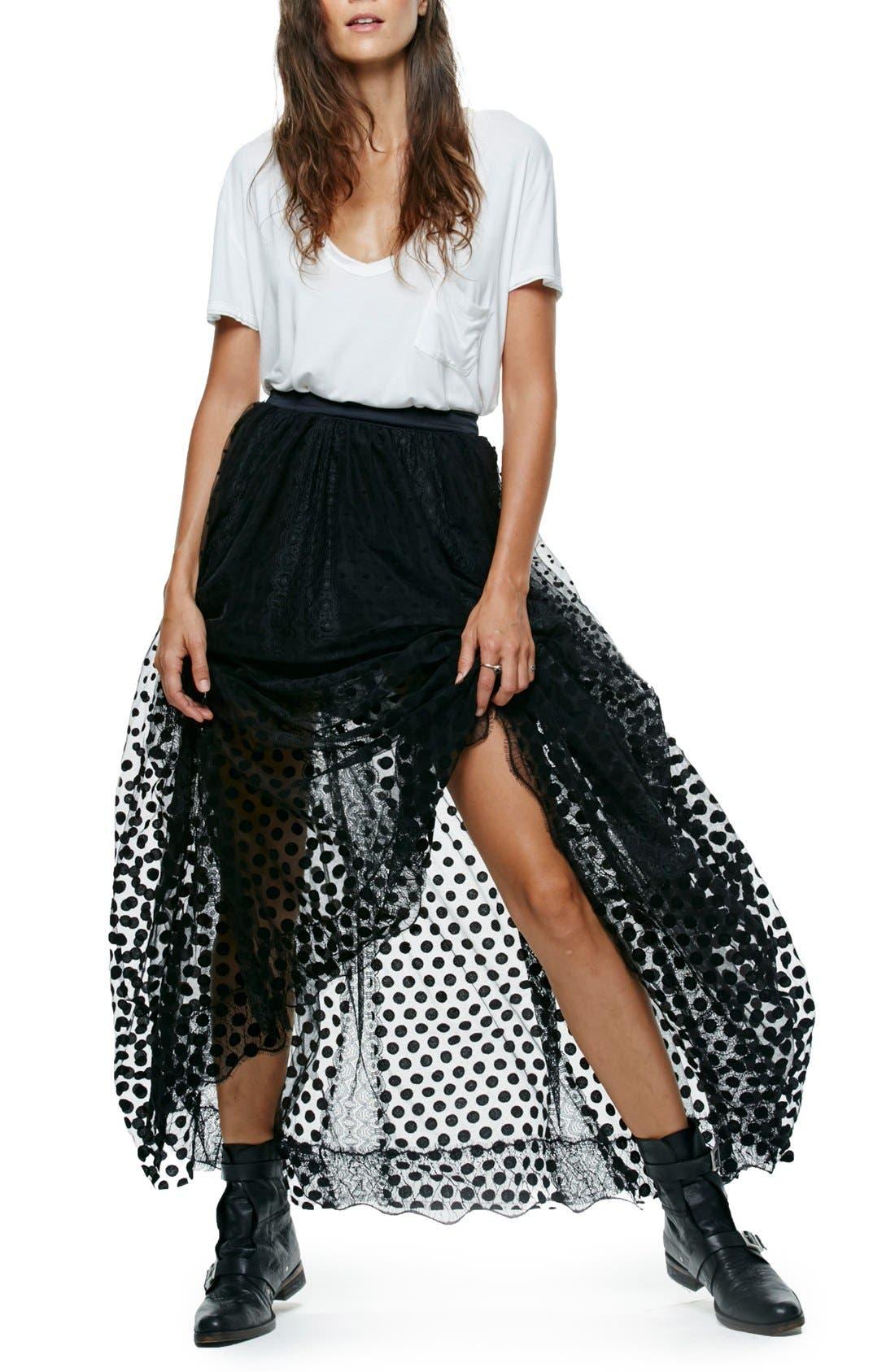 Main Image - Free People Dreaming Of You Mesh Tutu Skirt