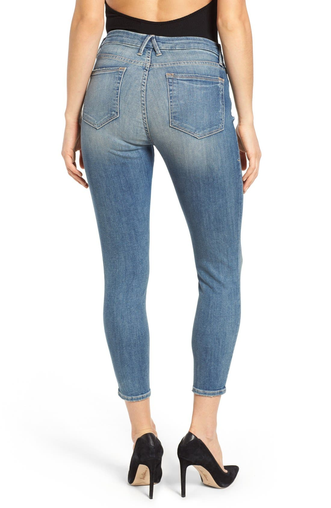 Good Legs High Rise Crop Skinny Jeans,                             Alternate thumbnail 2, color,                             Blue 010