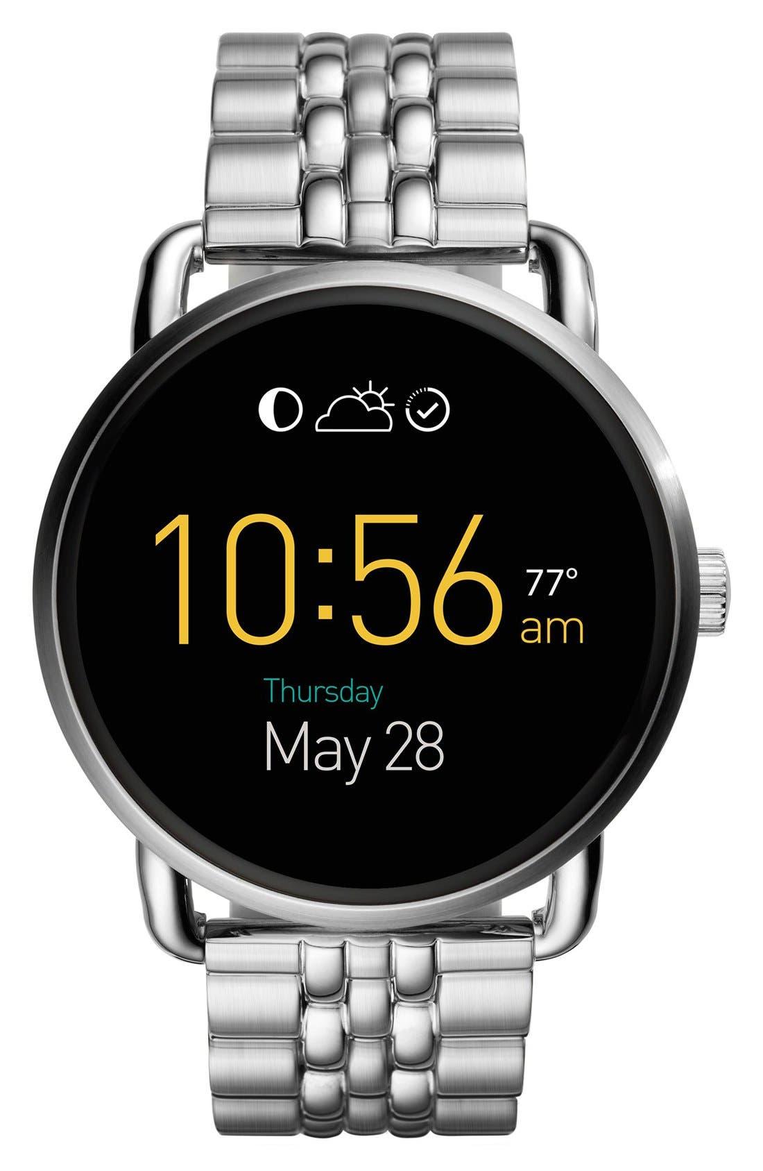 Alternate Image 1 Selected - Fossil Q Wander Digital Smart Bracelet Watch, 45mm