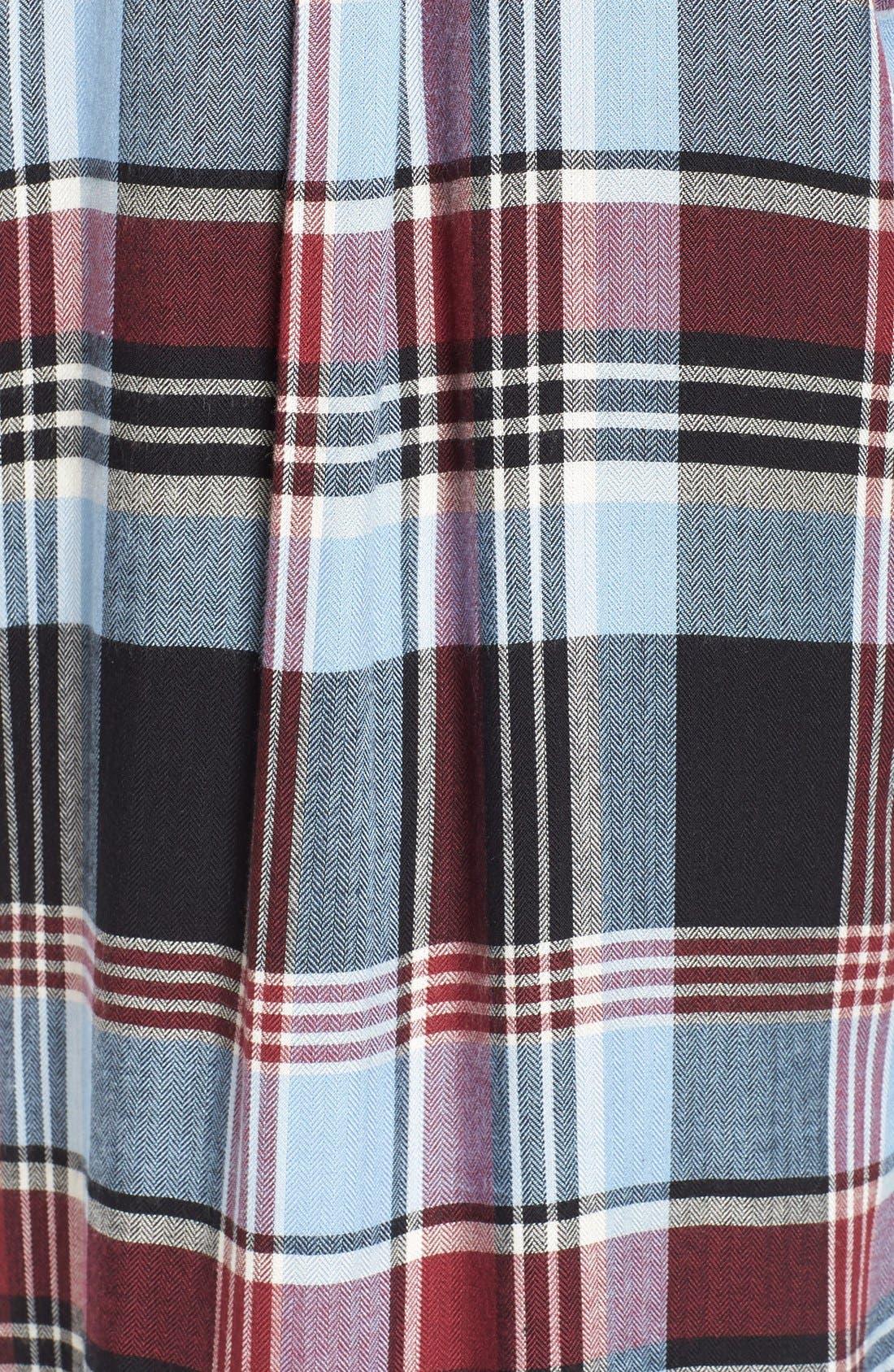 Alternate Image 5  - SP Black Plaid Shirtdress