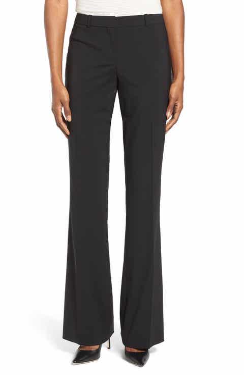 BOSS Tulea3 Bootcut Wool Trousers Online Cheap