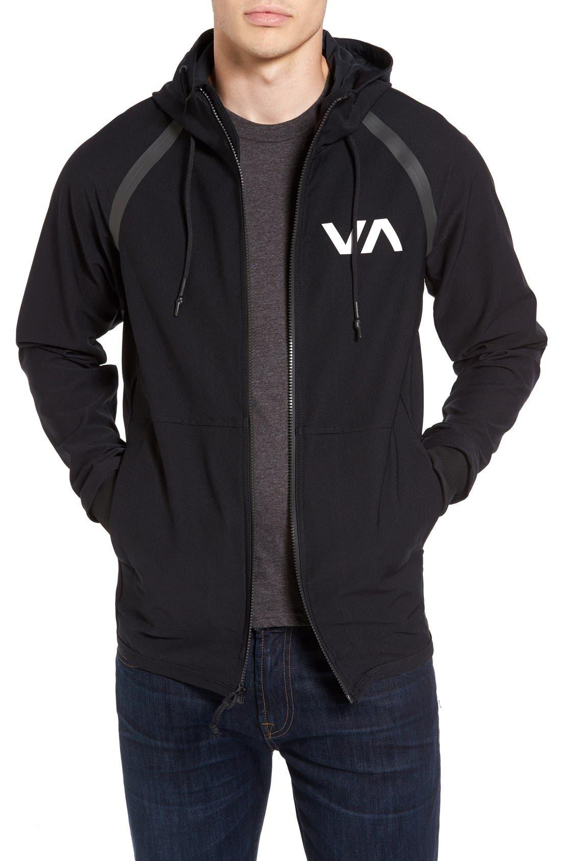 Main Image - RVCA Sport Grappler Hooded Jacket