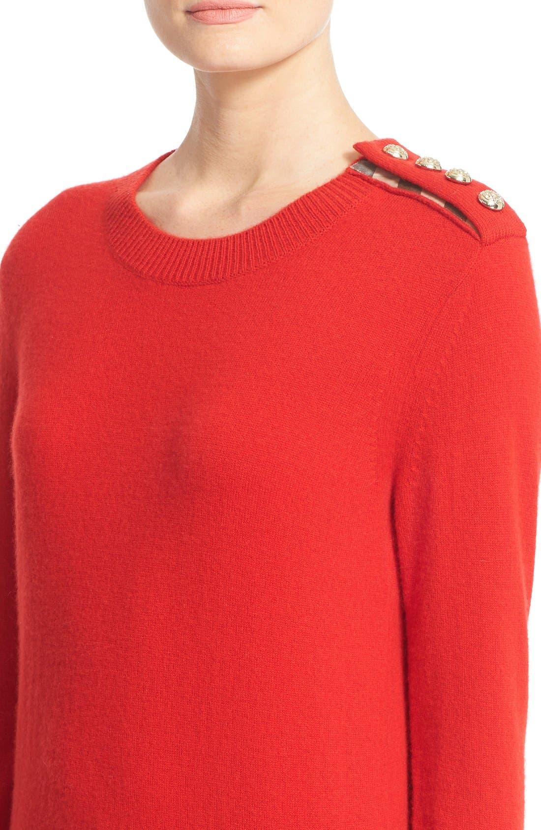 Alternate Image 4  - Burberry Meesebrook Cashmere Sweater