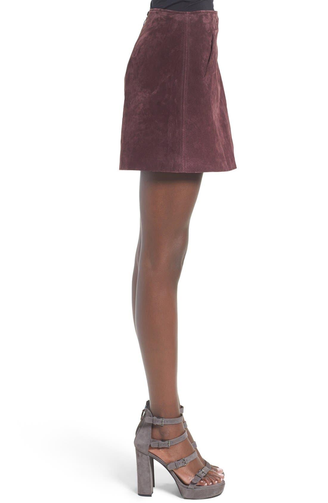 Alternate Image 4  - BLANKNYC Suede Miniskirt