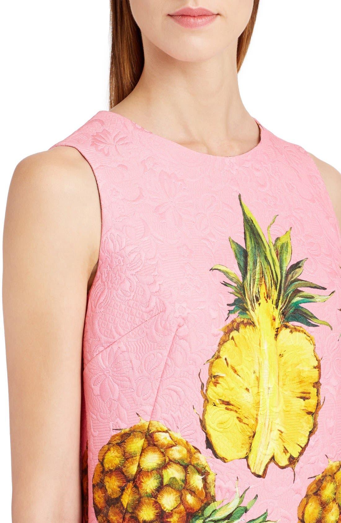 Alternate Image 5  - Dolce&Gabbana Pineapple Jacquard Shift Dress