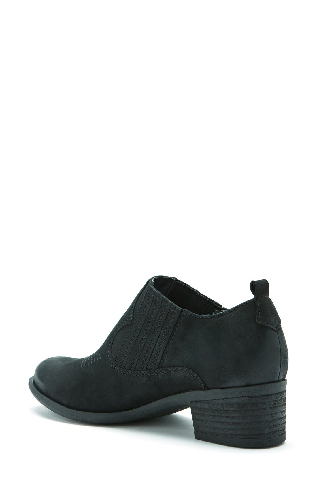 Maddox Waterproof Western Bootie,                             Alternate thumbnail 2, color,                             Black Leather