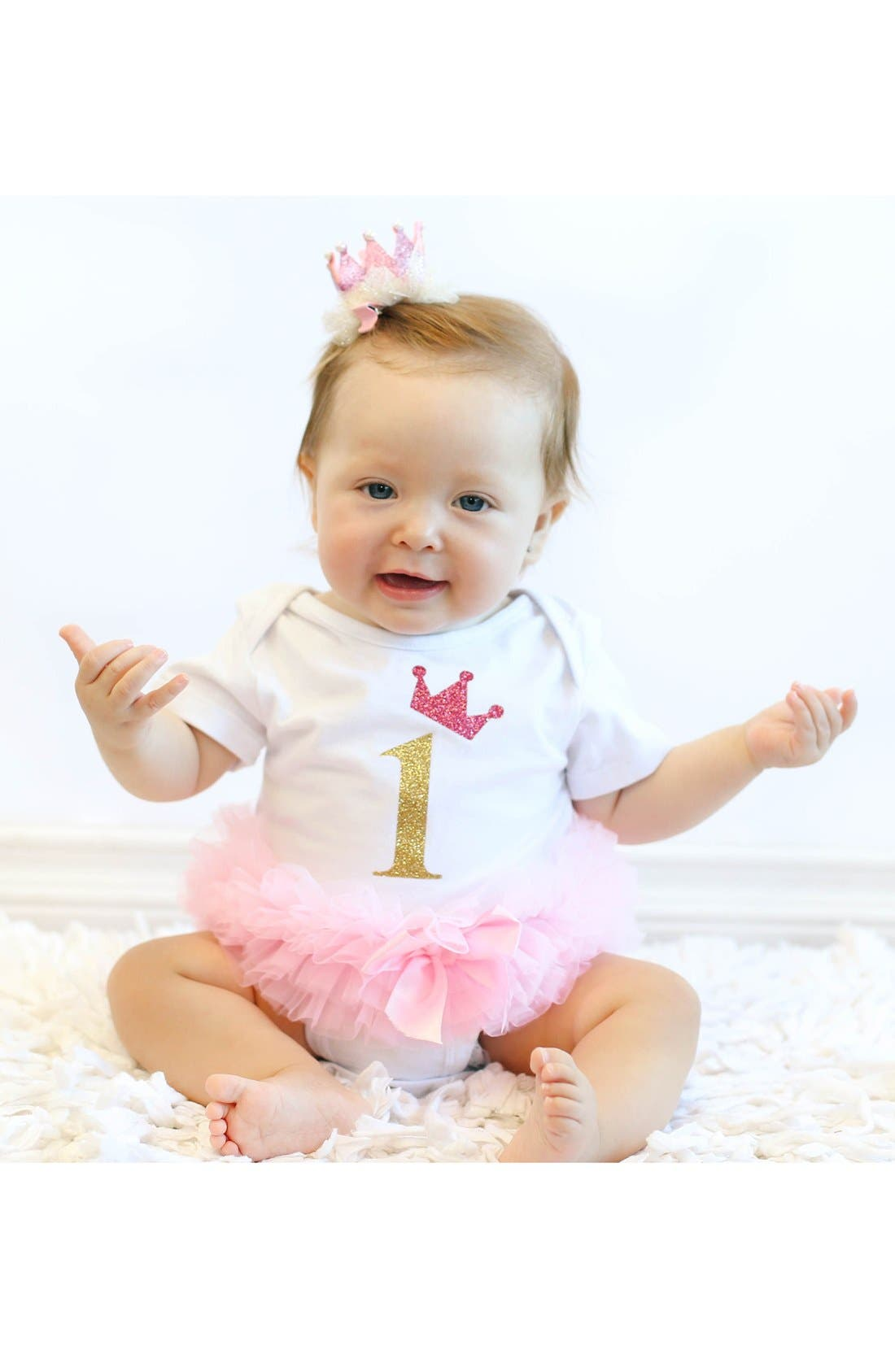 Alternate Image 3  - Popatu Birthday Tutu Bodysuit (Baby Girls)