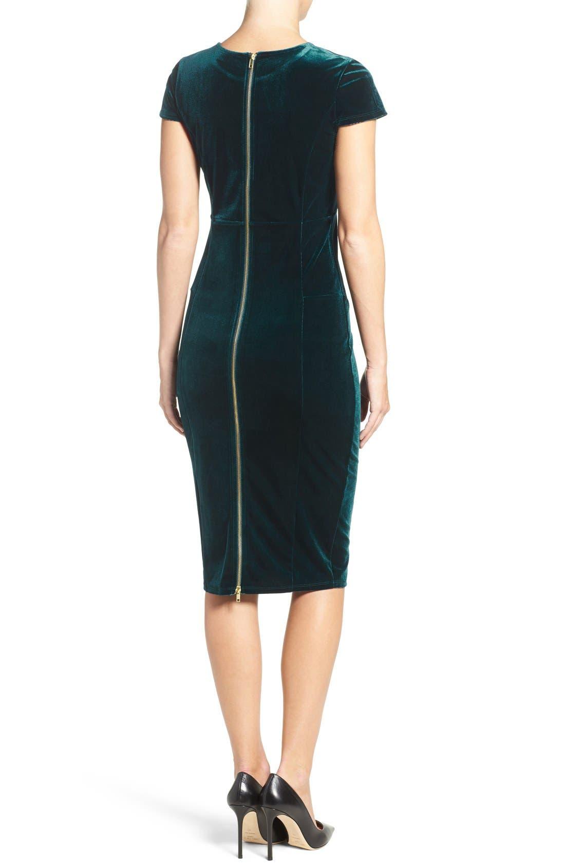 Alternate Image 2  - Felicity & Coco Velvet Midi Dress (Nordstrom Exclusive)
