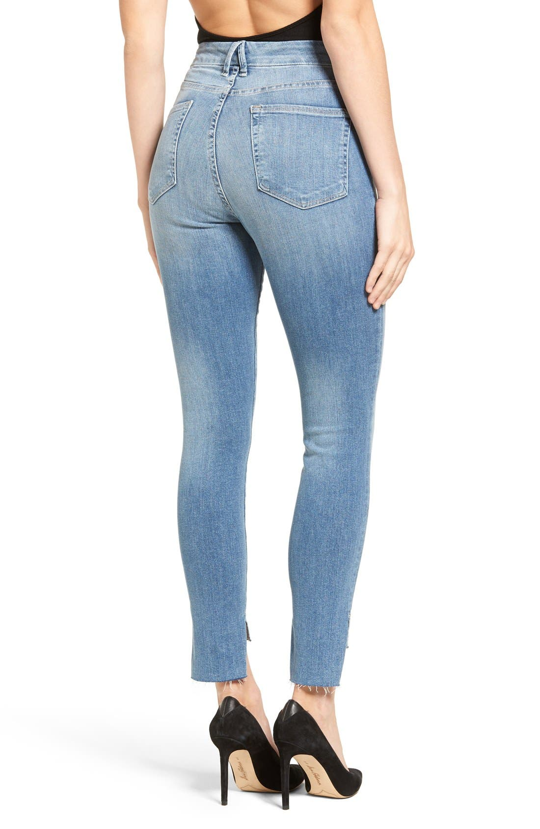 Alternate Image 3  - Good American Good Legs High Waist Skinny Jeans (Blue 007) (Extended Sizes)