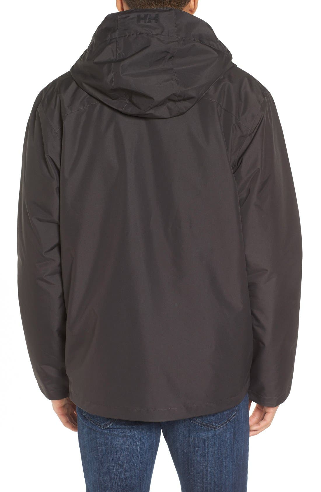 Squamish 3-in-1 Water Repellent Hooded Jacket,                             Alternate thumbnail 2, color,                             Ebony