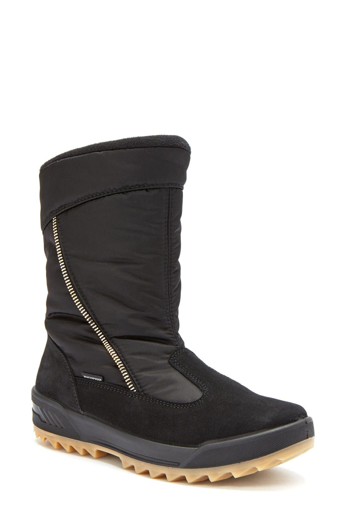 Iceland Waterproof Snow Boot,                             Alternate thumbnail 4, color,                             Black Multi Fabric