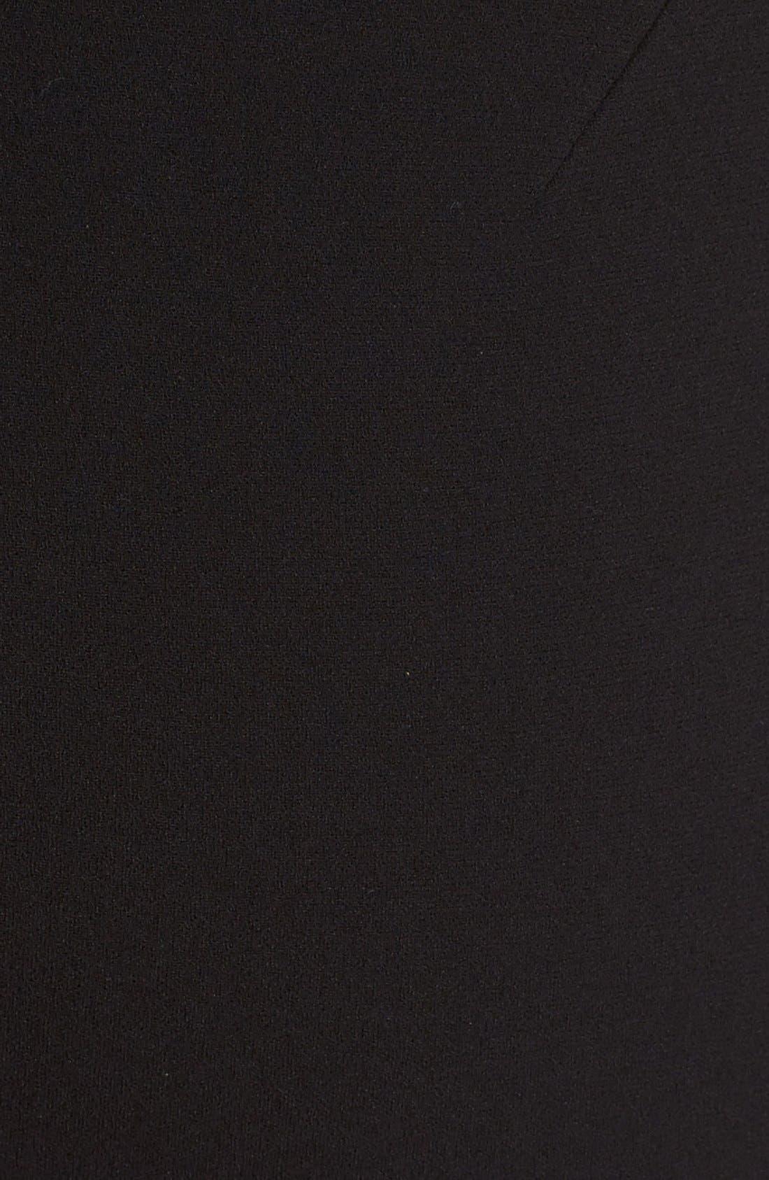 Alternate Image 3  - Victoria Beckham Cross Back Matte Crepe Dress