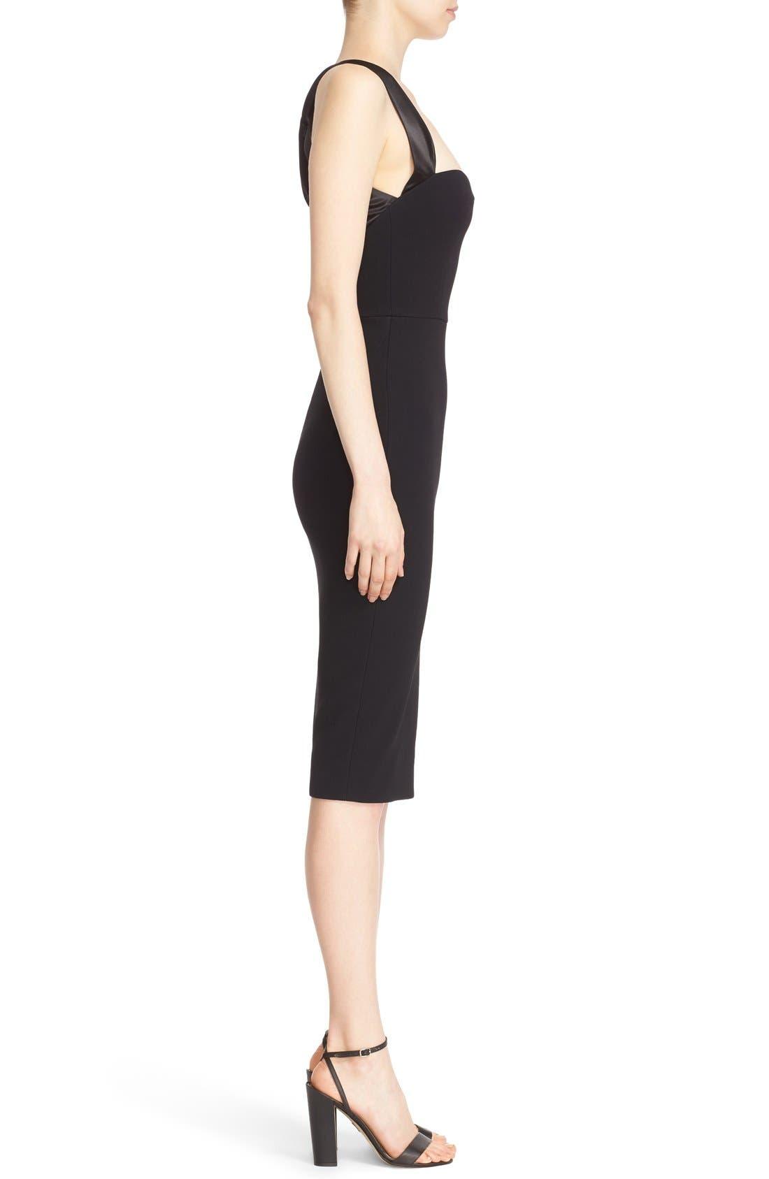 Alternate Image 4  - Victoria Beckham Cross Back Matte Crepe Dress