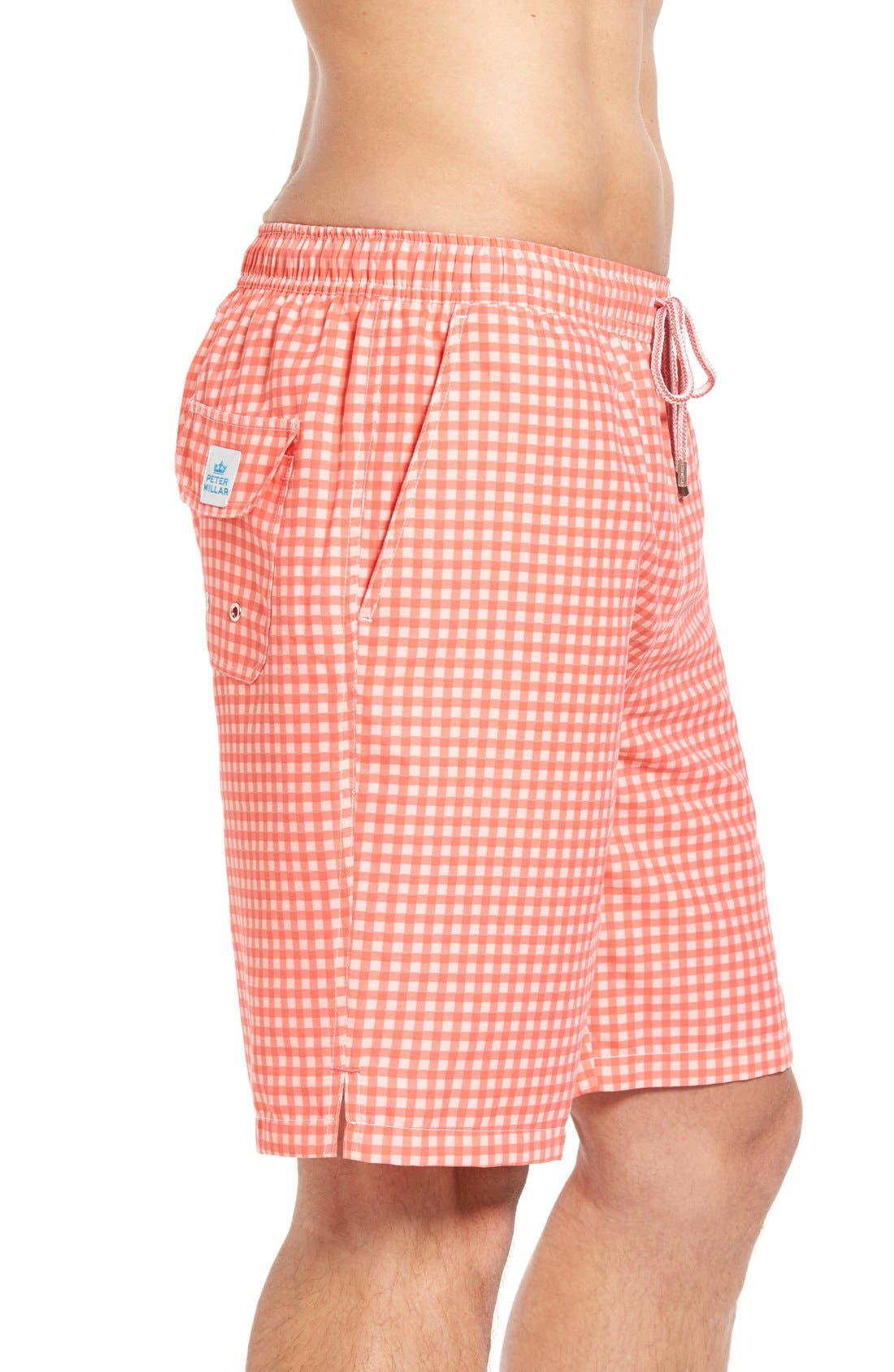 Alternate Image 3  - Peter Millar Gingham Swim Trunks
