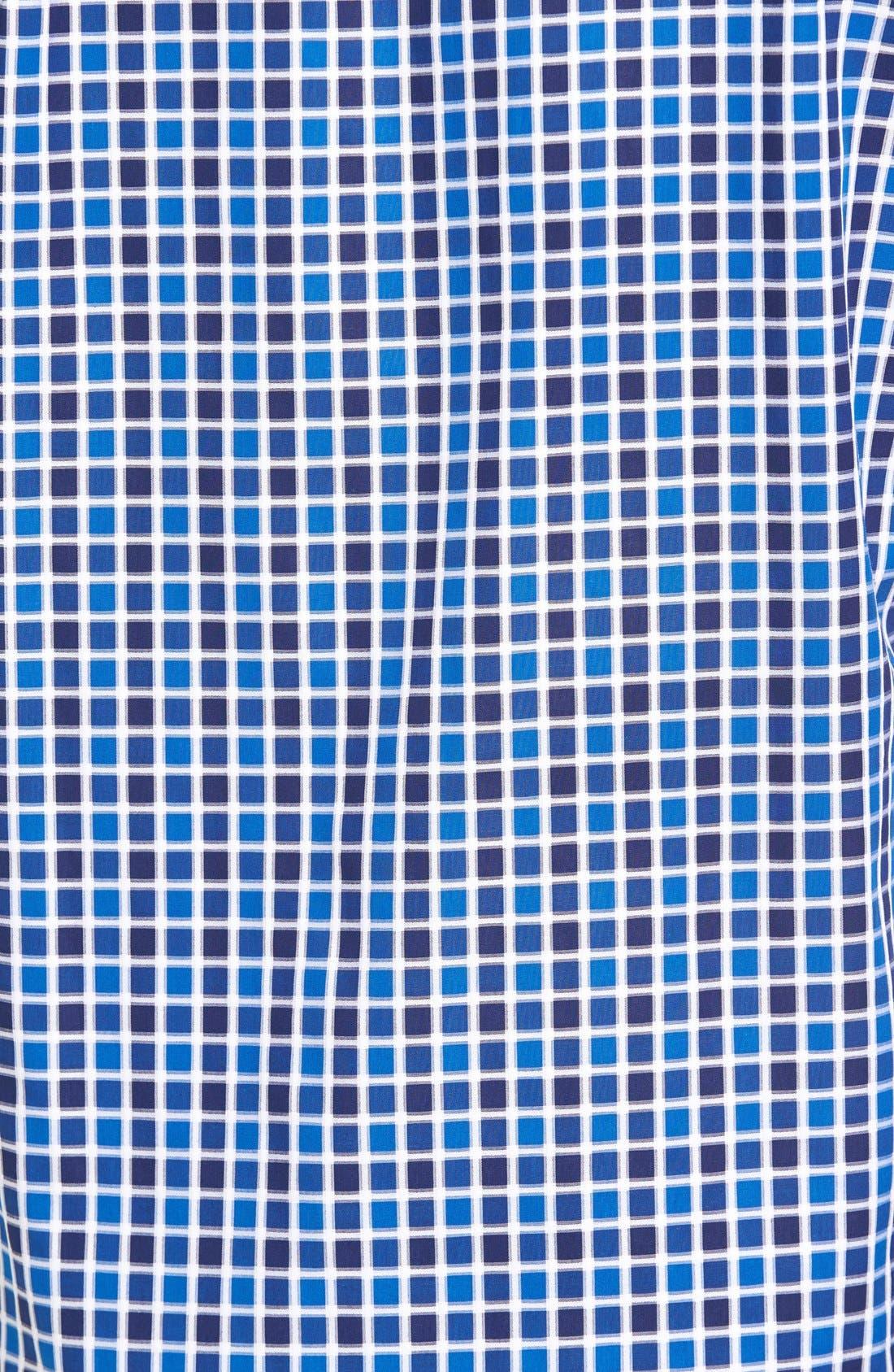 Shaped Fit Check Sport Shirt,                             Alternate thumbnail 5, color,                             Navy