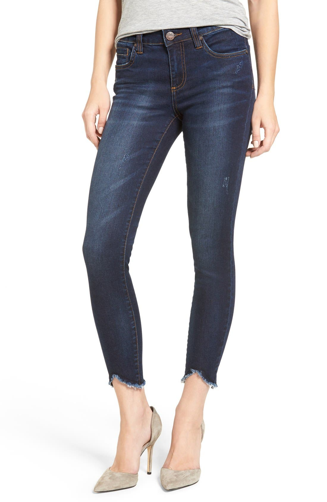KUT FROM THE KLOTH Raw Hem Skinny Jeans