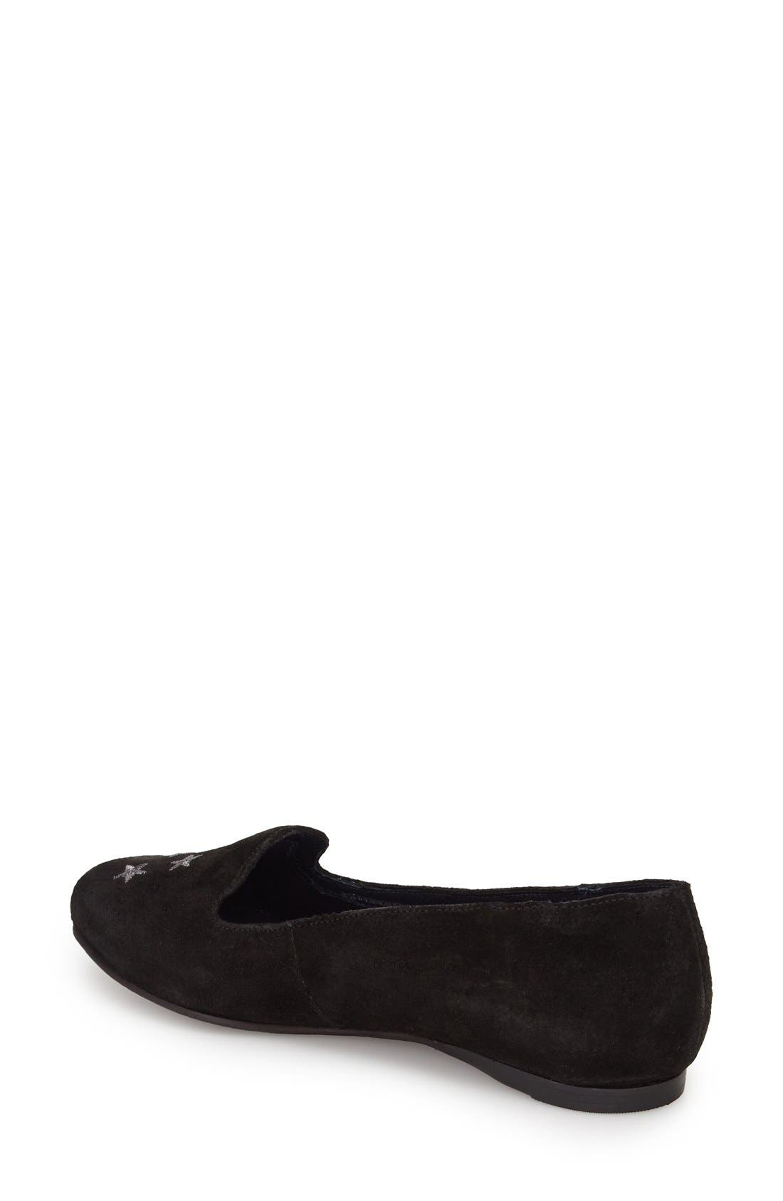 Starstuck Loafer,                             Alternate thumbnail 2, color,                             Black Suede