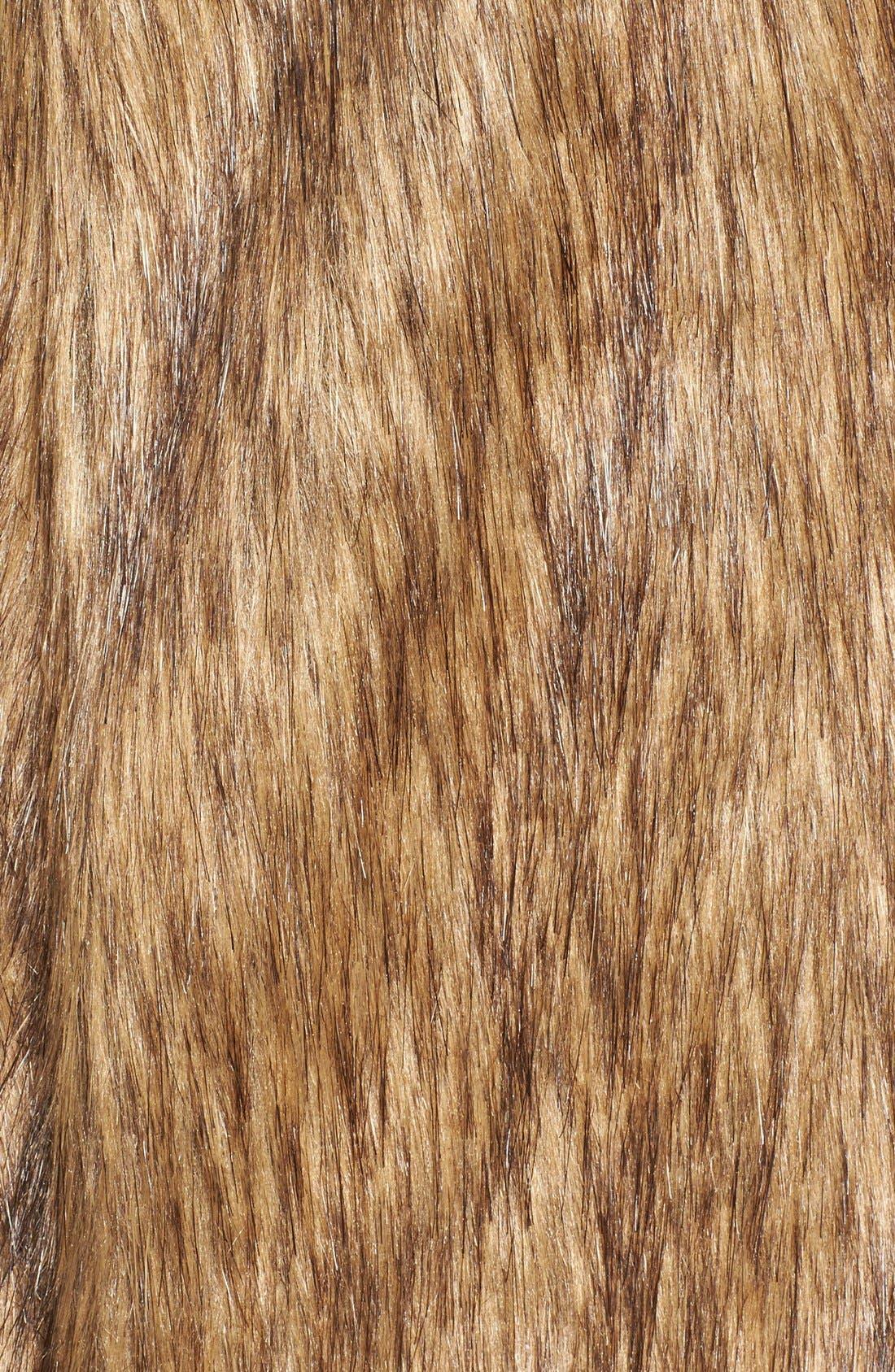 Faux Fur Vest,                             Alternate thumbnail 5, color,                             Tan Brown Faux Fur