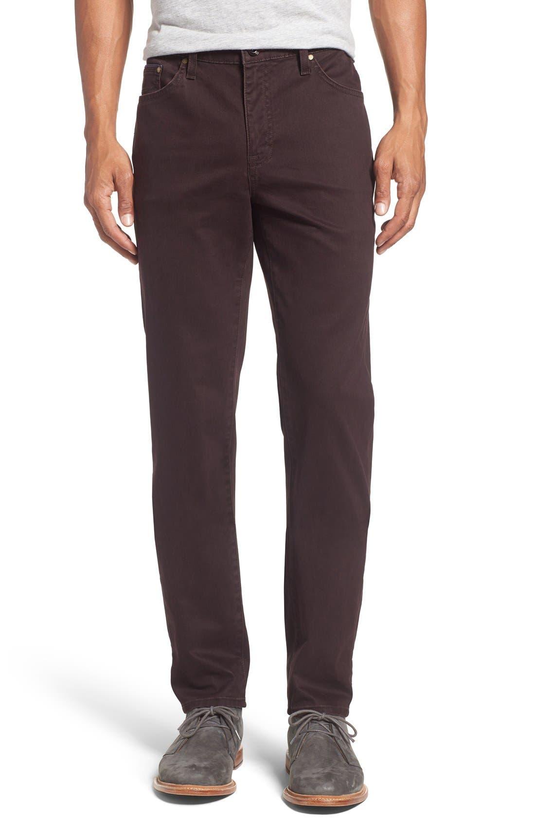 Print Slim Fit Trouser Jeans,                             Main thumbnail 1, color,                             Dark Red