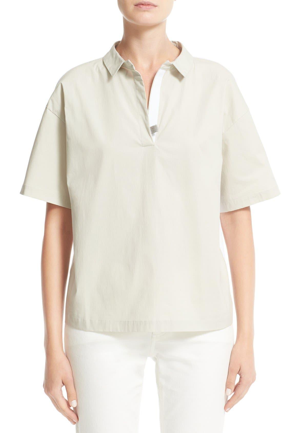 Fabiana Filippi Woven & Jersey Shirt