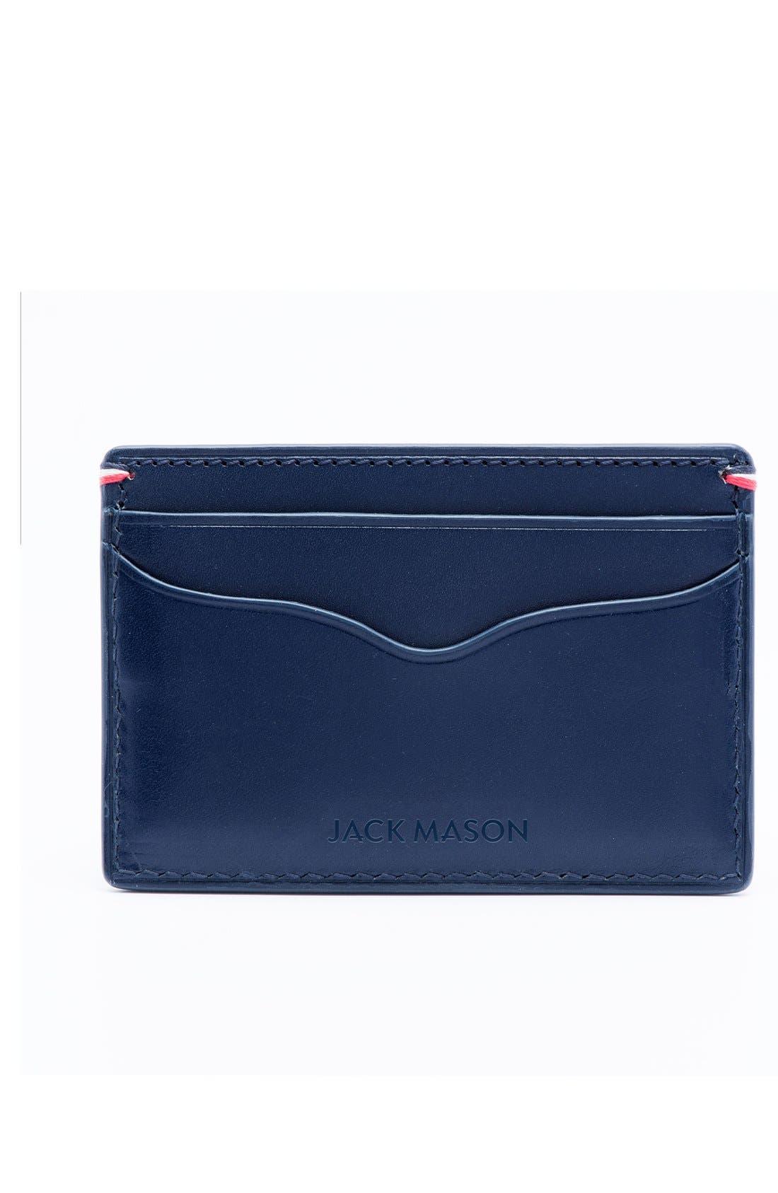 Alternate Image 2  - Jack Mason Star Leather Card Case