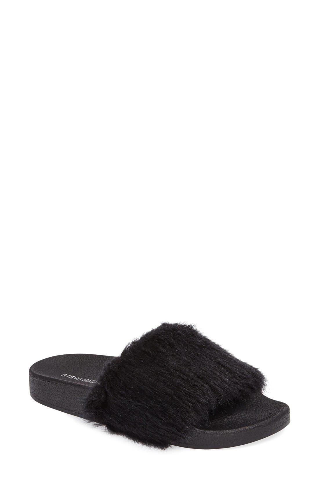 Softey Slide,                         Main,                         color, Black/ Black