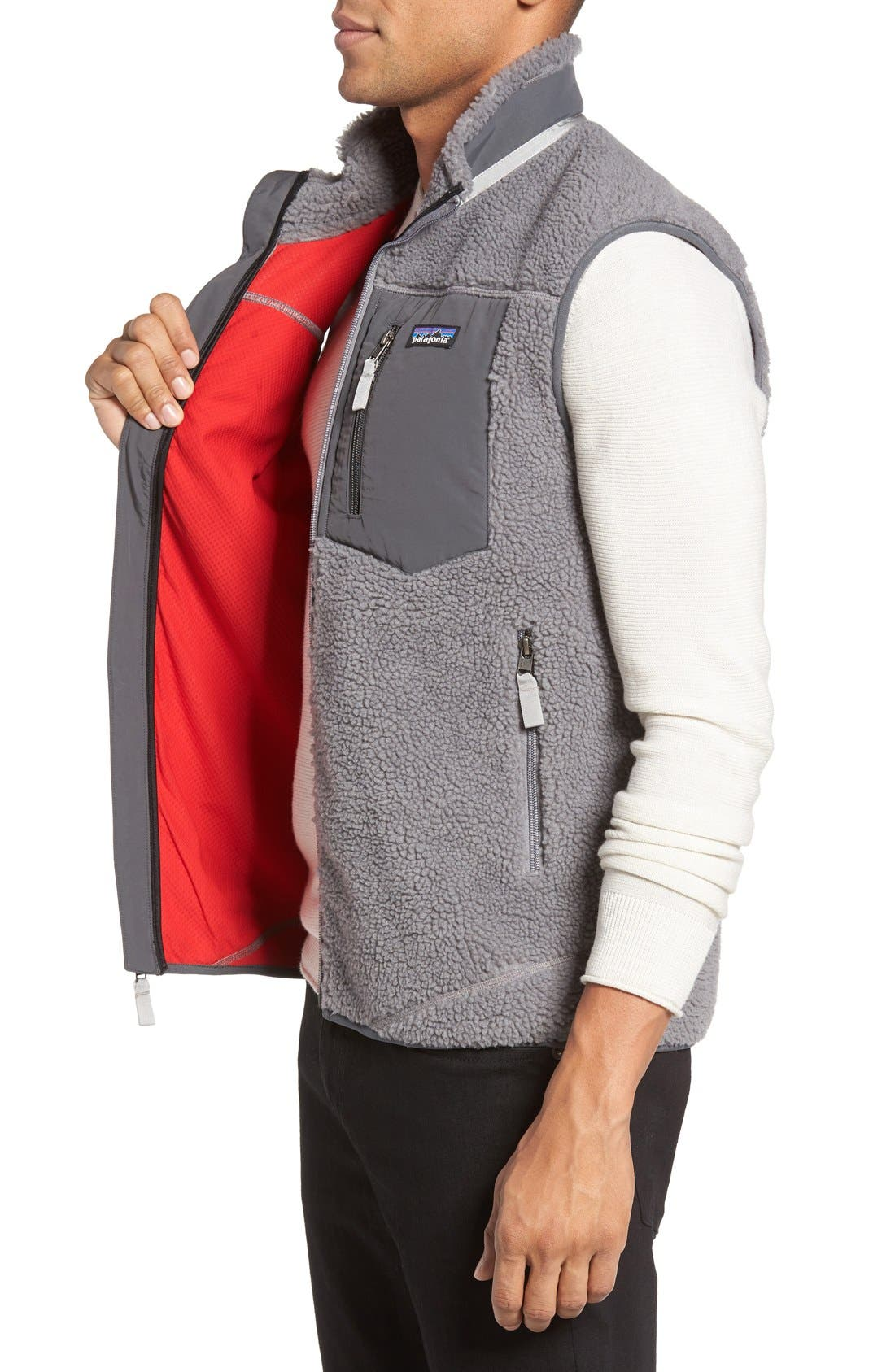 Classic Retro-X<sup>®</sup> Waterproof Vest,                             Alternate thumbnail 3, color,                             Feather Grey