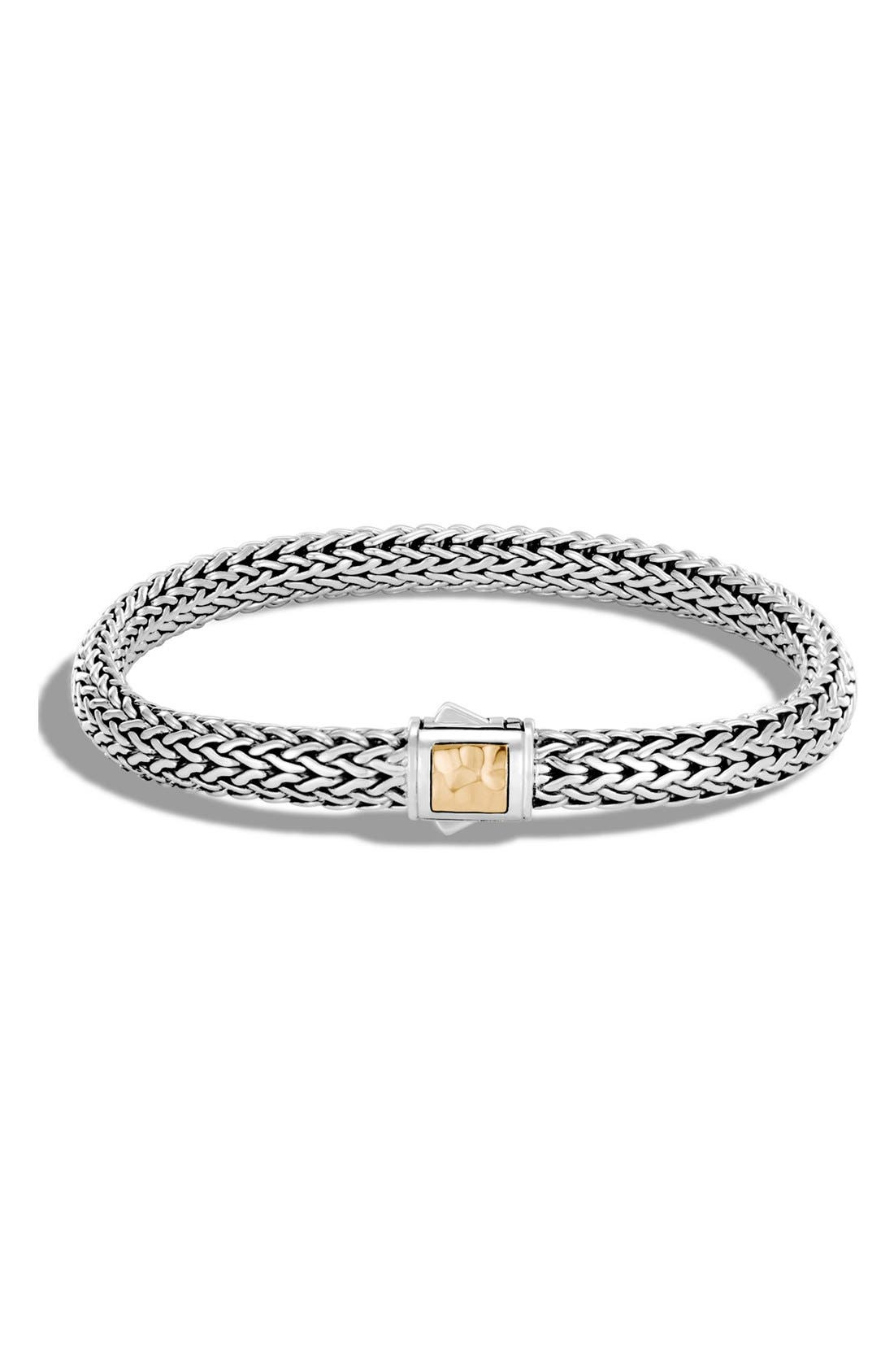 JOHN HARDY Classic Chain 6.5mm Hammered Clasp Bracelet