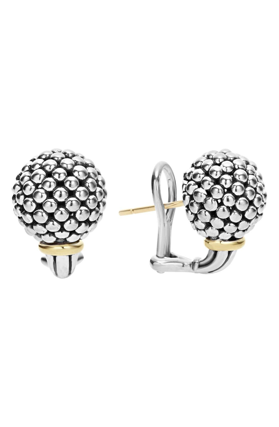 'Caviar Forever' Stud Earrings,                         Main,                         color, Silver/ Gold