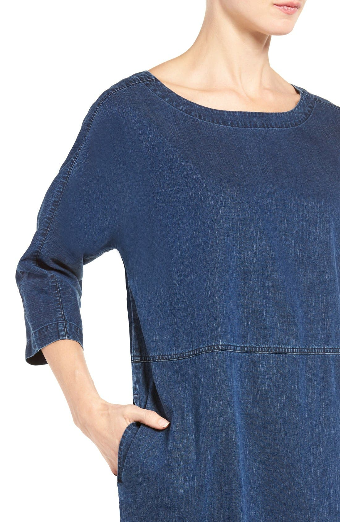 Alternate Image 5  - Eileen Fisher Denim Shift Dress