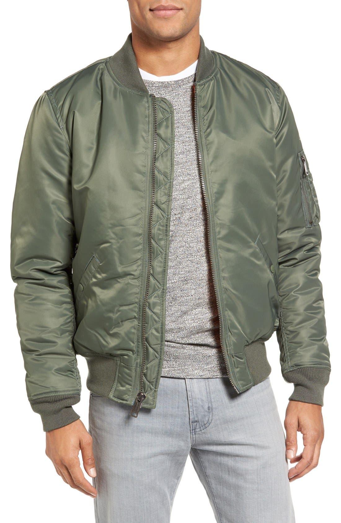 MA-1 Flight Jacket,                         Main,                         color, Sage