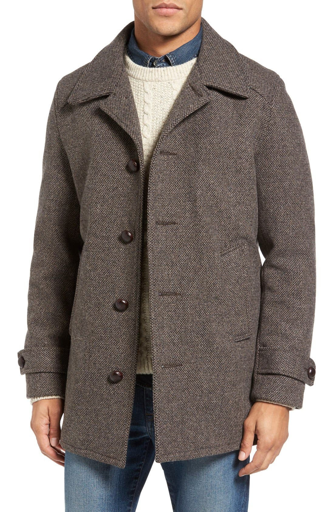 Schott NYC Tweed Car Coat | Nordstrom