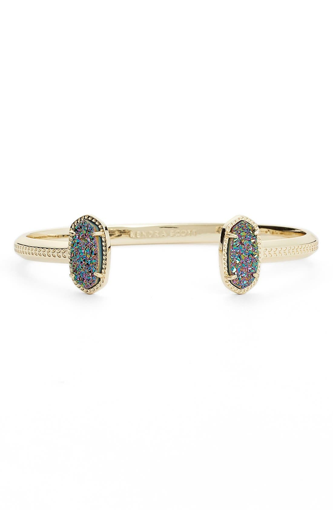 Elton Station Cuff Bracelet,                             Main thumbnail 1, color,                             Multi Drusy/ Gold