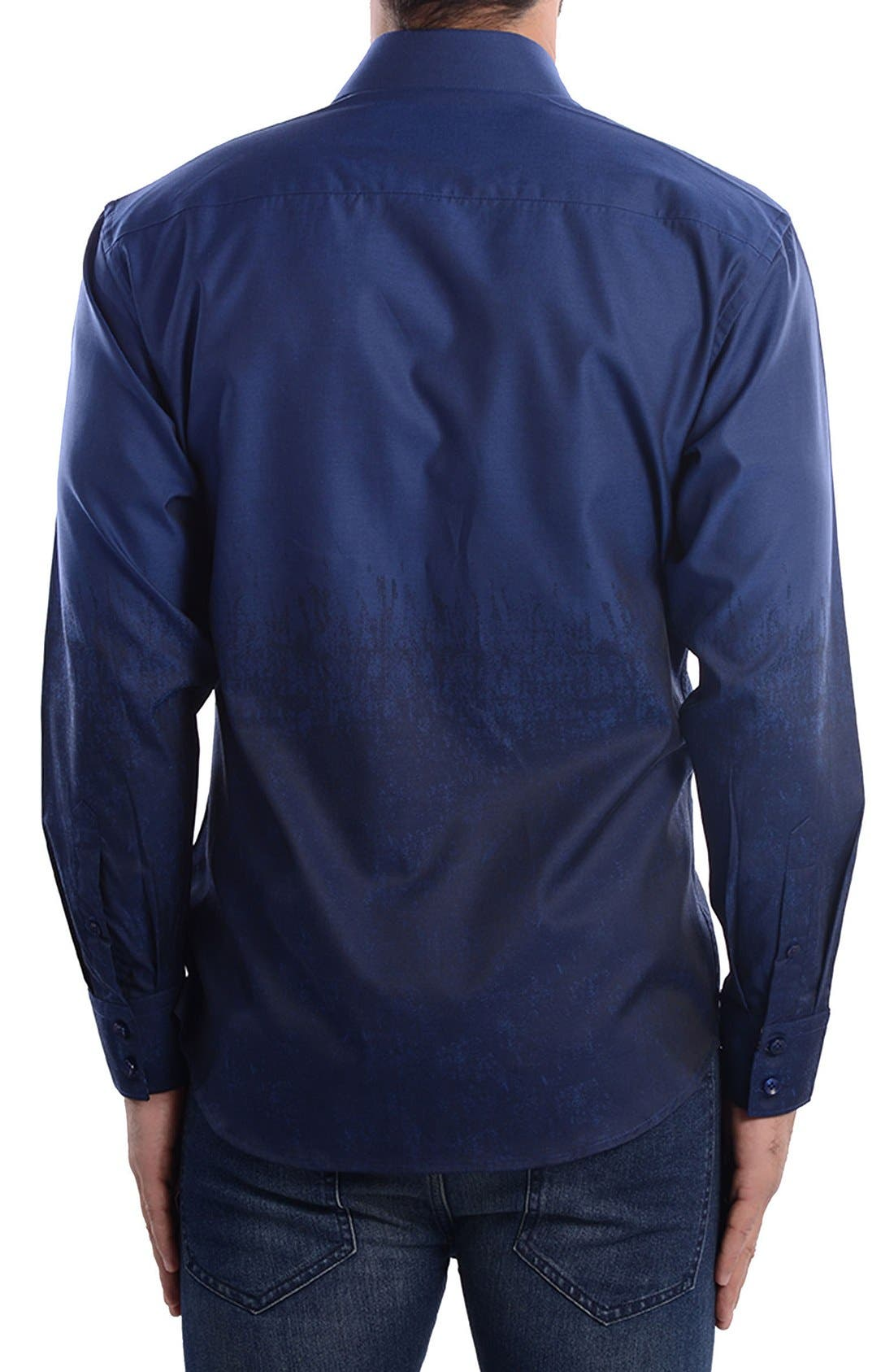 Alternate Image 2  - Bertigo Abstract Modern Fit Sport Shirt