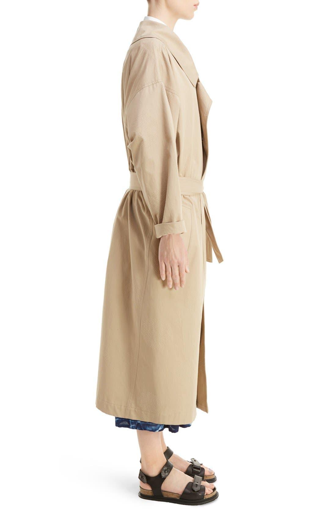 U-Gown Coat,                             Alternate thumbnail 4, color,                             Beige