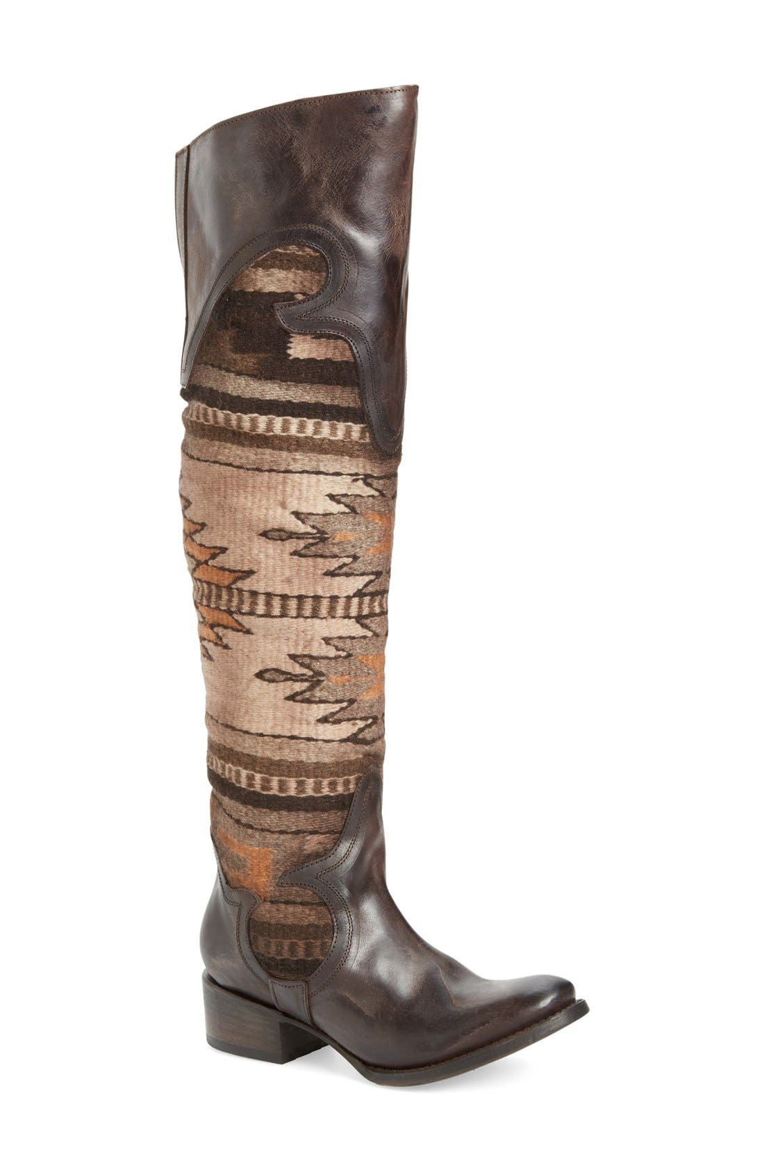 Sun Over the Knee Boot,                             Main thumbnail 1, color,                             Brown