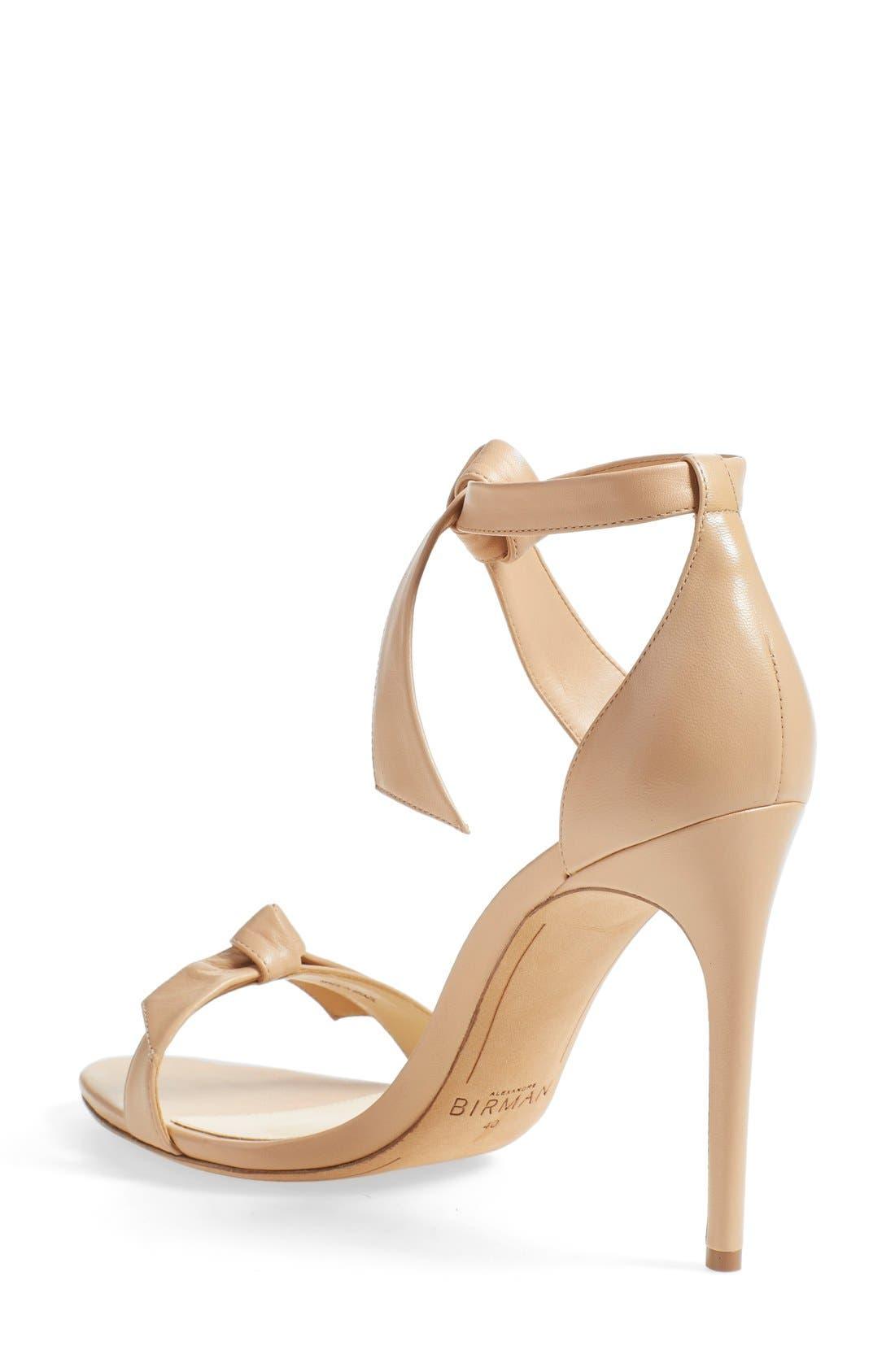 'Clarita' Ankle Tie Sandal,                             Alternate thumbnail 2, color,                             Nude Soft Leather