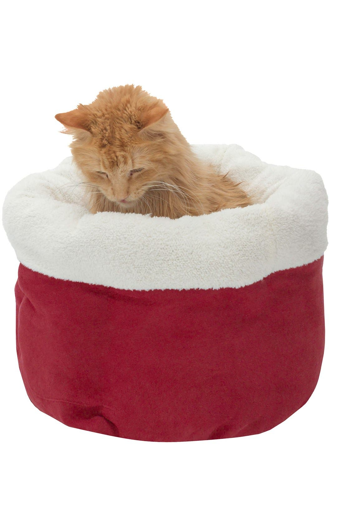 Barclay Pet Bed,                         Main,                         color, Red