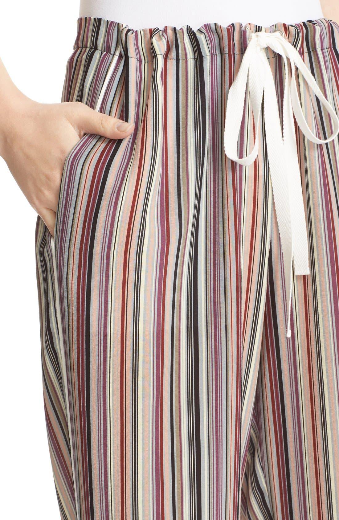 Alternate Image 4  - Theory Winszlee Stripe Silk Pants