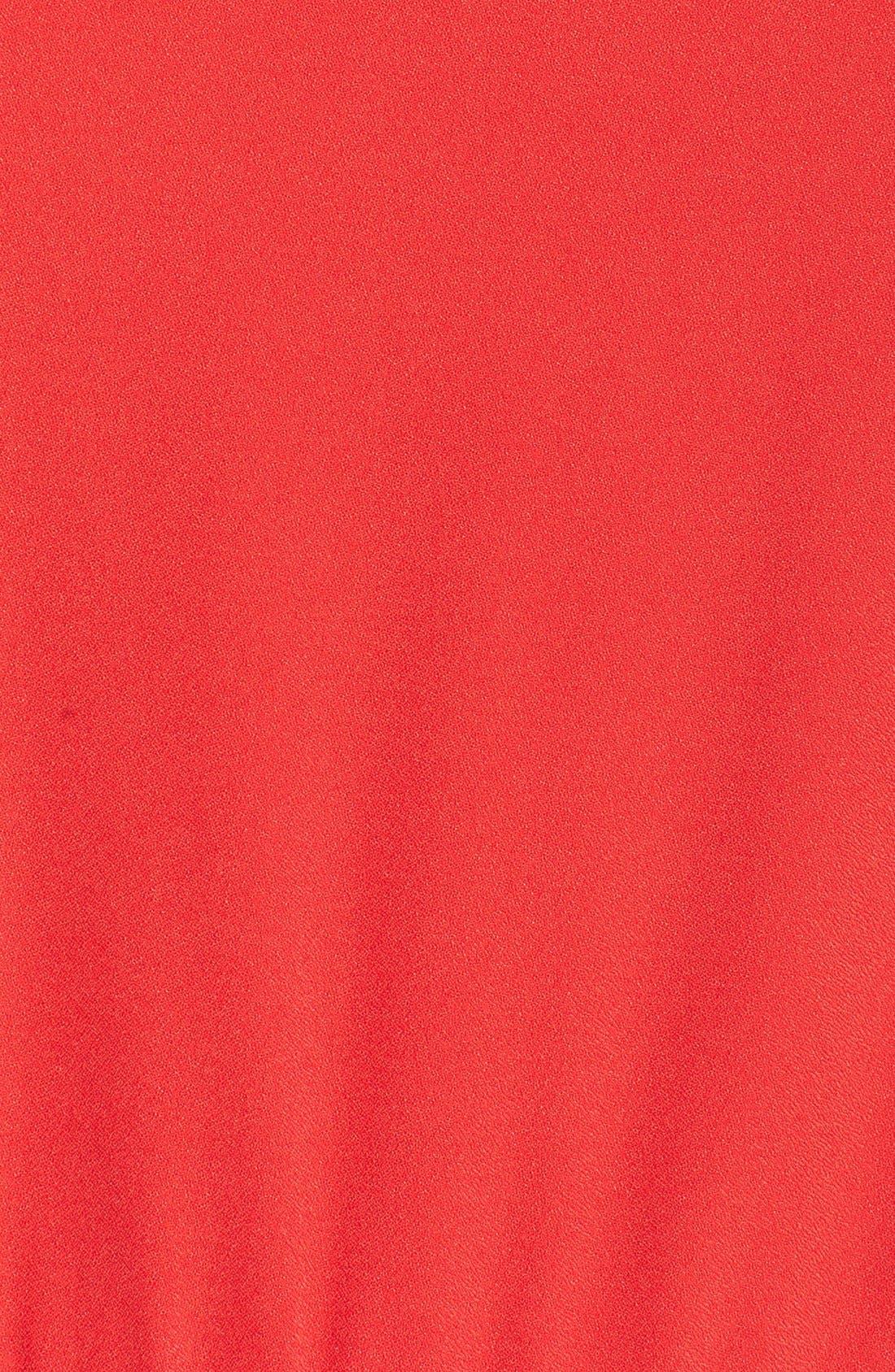 Ruffle Halter Jumpsuit,                             Alternate thumbnail 5, color,                             Red