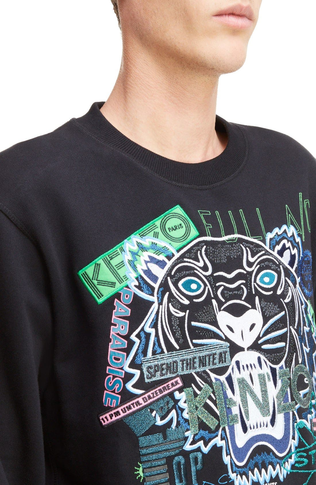 Alternate Image 4  - KENZO Embroidered Graphic Sweatshirt