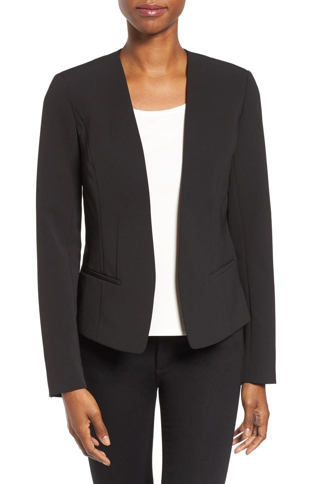 Alternate Image 1 Selected - Halogen® Open Front Jacket (Regular & Petite)