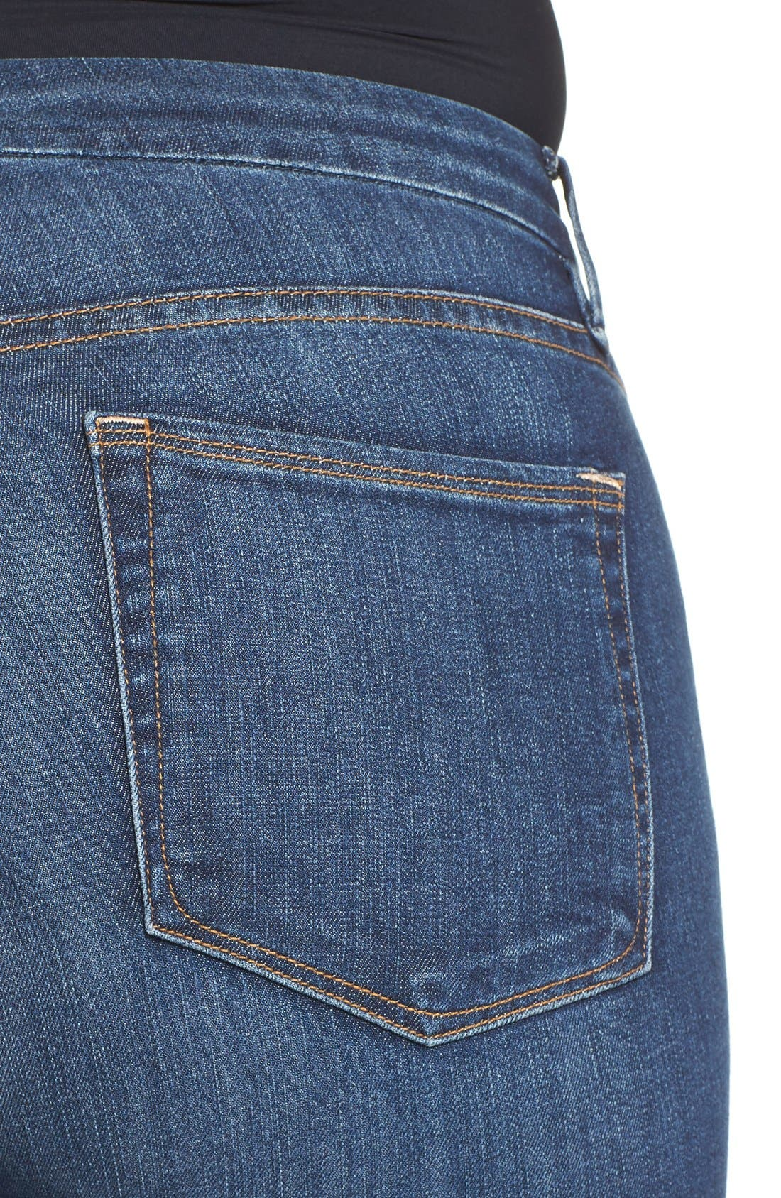 Alternate Image 9  - Good American Good Legs High Rise Skinny Jeans (Blue 004)
