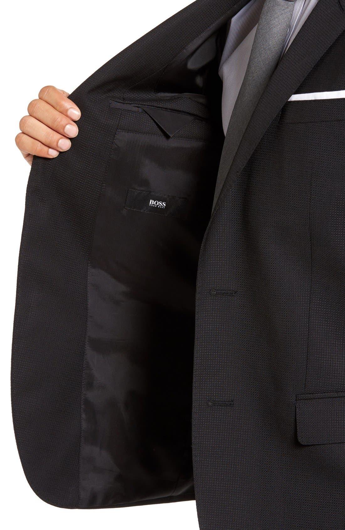 Hutch Trim Fit Wool Blazer,                             Alternate thumbnail 3, color,                             Black