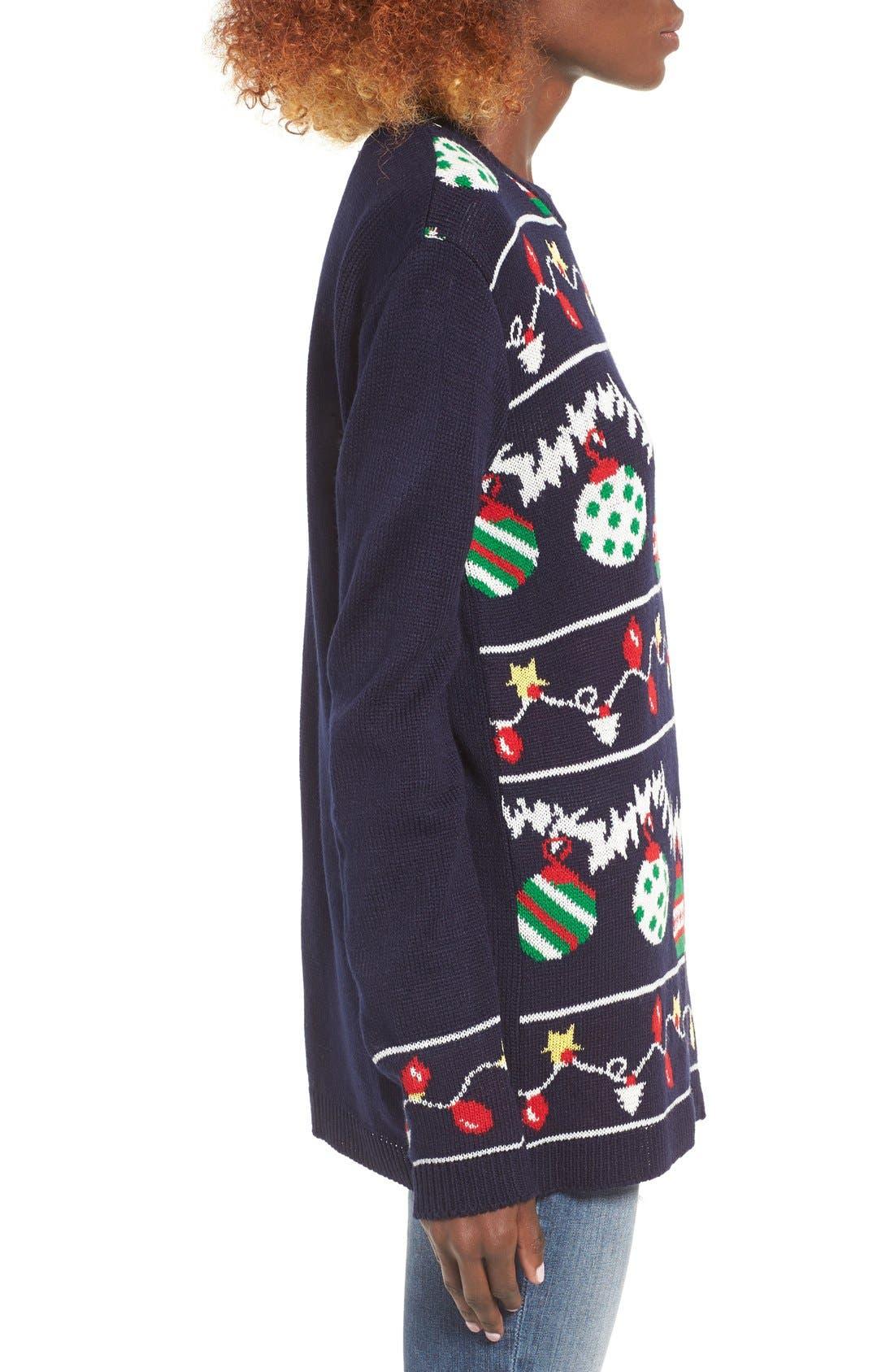 Alternate Image 3  - Cotton Emporium Ornament Christmas Sweater